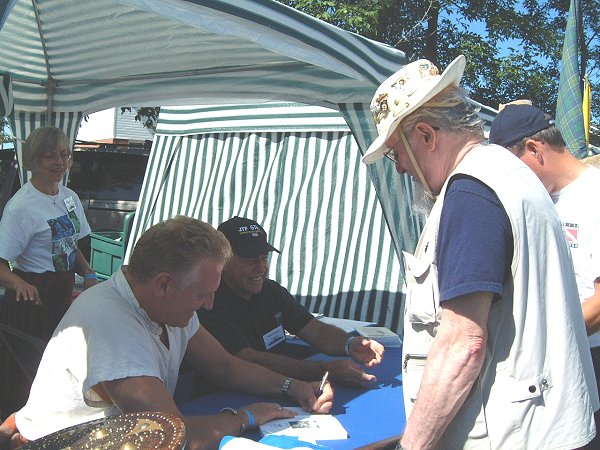BOOK-SIGNING TENT