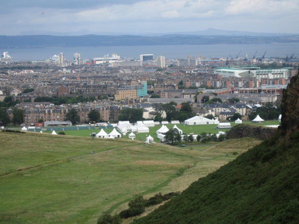 HOLYROOD PARK BEING SET UP