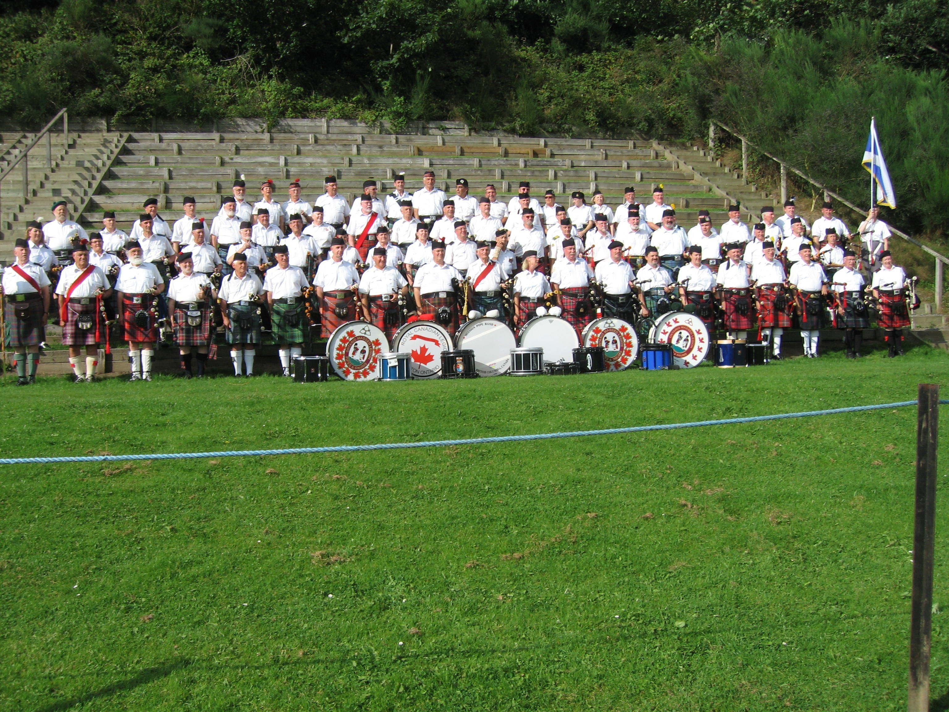 CANADIAN MASSED PIPE AND DRUM BAND