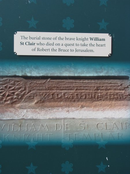 BURIAL STONE OF WM ST.CLAIR